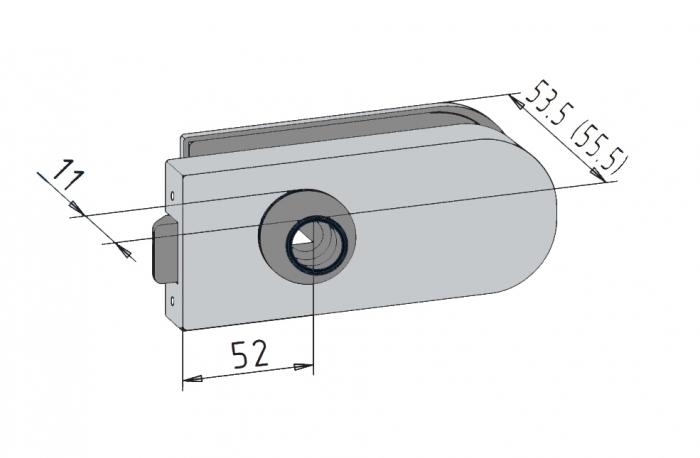 Broasca Studio pentru cilindru usa sticla 8-10 mm