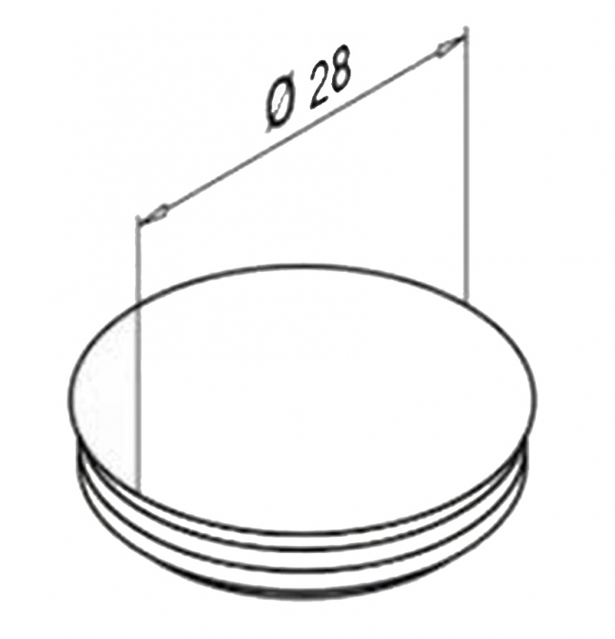 Capac mascare gauri fixare profil U balustrada Easy Glass® Eco