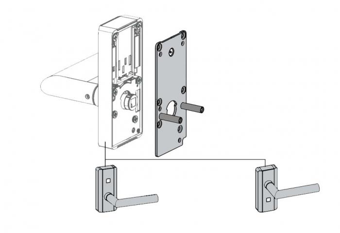 Incuietoare electronica C-lever compact