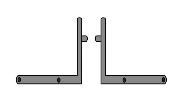 Coltar fixare podea profil toc/parte fixa Alexa AT45, set stanga/dreapta