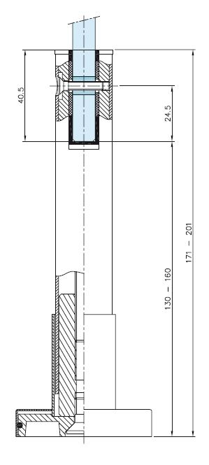 Picior reglabil compartimentare toaleta