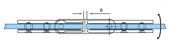 Balama ajustabila sticla/sticla 180°