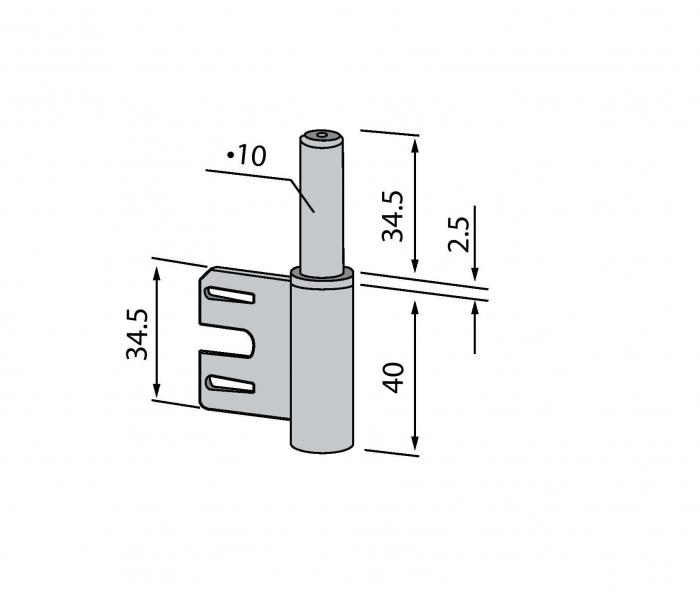 Pivot toc metalic
