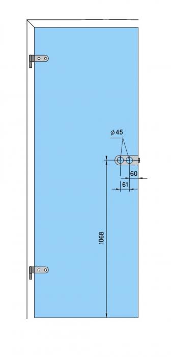 Broasca Arcos Studio pentru baie usa sticla 8-10 mm 4