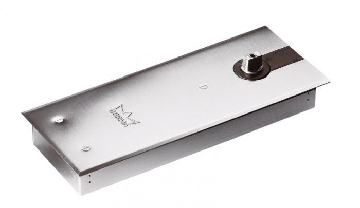 Amortizor pardoseala Dorma BTS 84 EN 3 cu placa si insert standard/blocaj la 90º