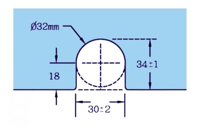 Contraplaca sticla GL 52/K pentru zavor inferior/superior cu buton GL 52