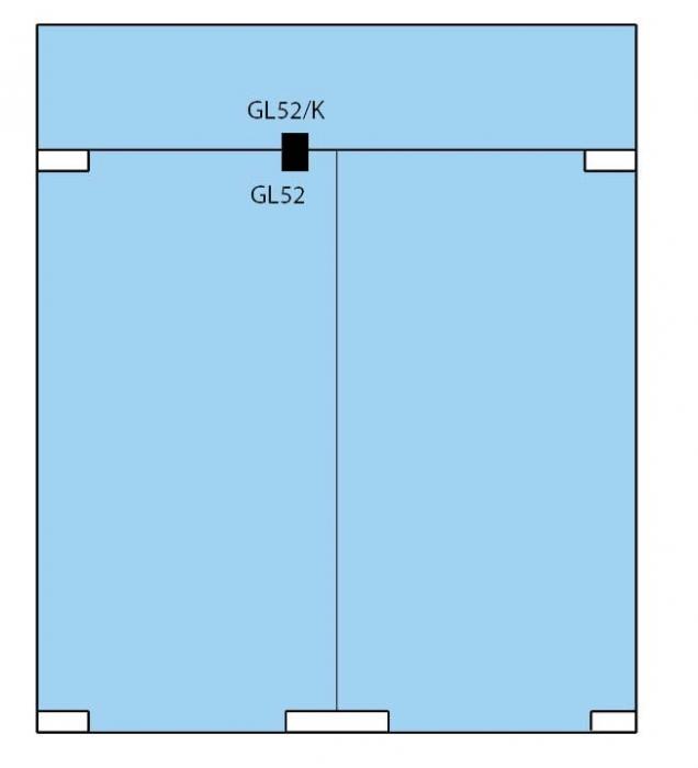 Zavor inferior/superior cu buton GL 52