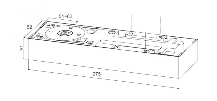 Amortizor pardoseala blocare la 90° EN 1-4 GTS 750 V