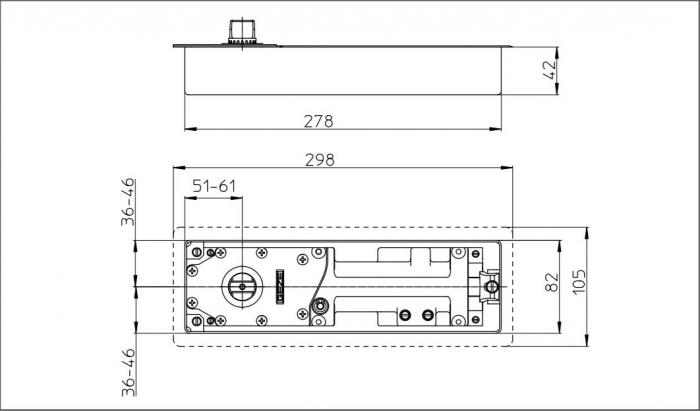 Amortizor pardoseala TS 500 NV cu blocare la 85° EN 1-4