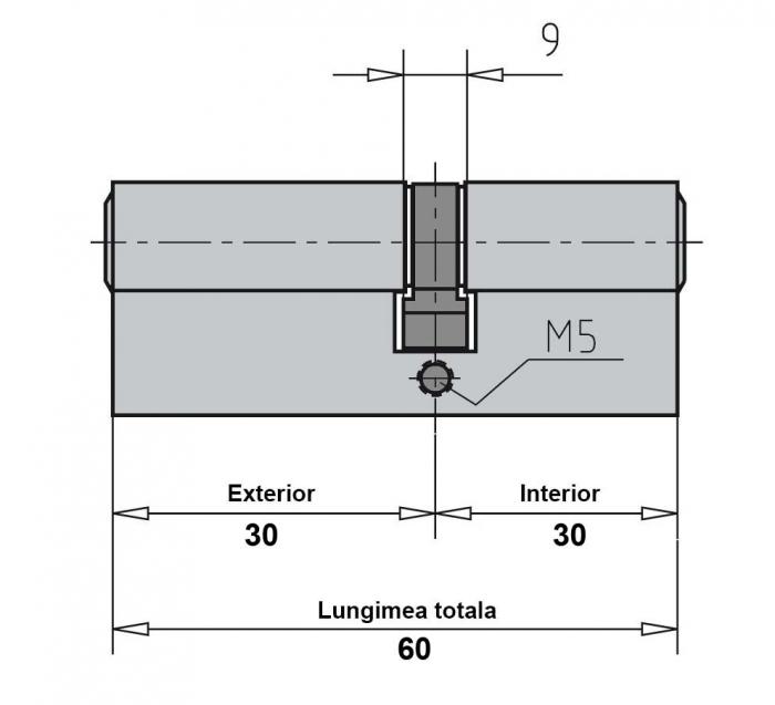 Cilindru broasca usa sticla 8-10 mm