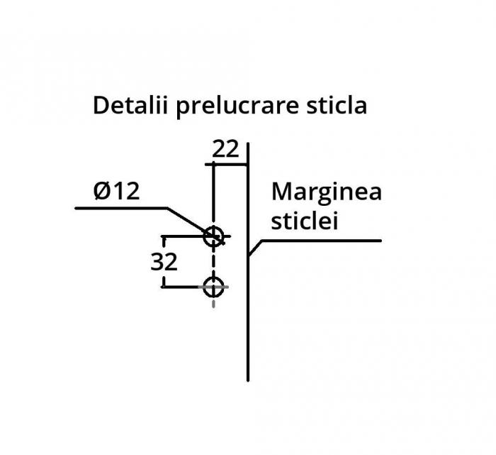 Contrabroasca ovala usa sticla 8-10 mm