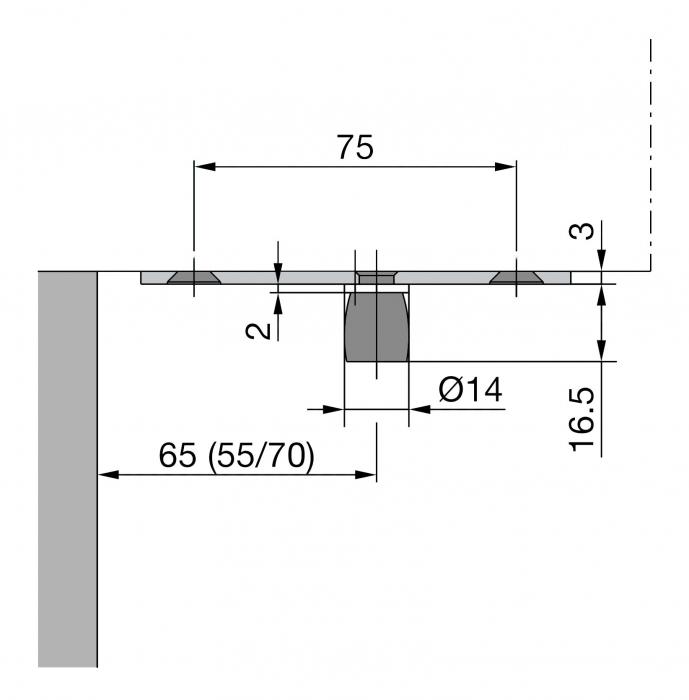Pivot superior PT 24 - Dorma Mundus Comfort