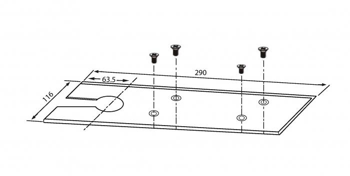 Amortizor pardoseala blocare la 90° EN 1-2 GTS 650