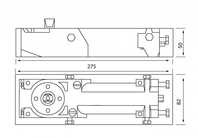 Amortizor pardoseala deschidere max 180° EN 1-4 8460 V