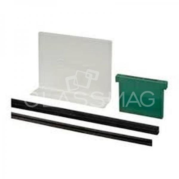 Set cale si garnituri profil U Easy Glass Eco/Slim sticla 16,76 mm, L=5000 mm