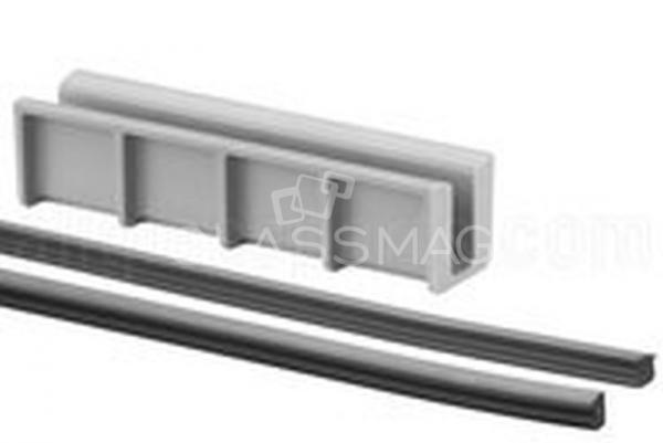 Set cale si garnituri profil U Easy Glass Hybrid sticla 8-8,76 mm, L=5000 mm