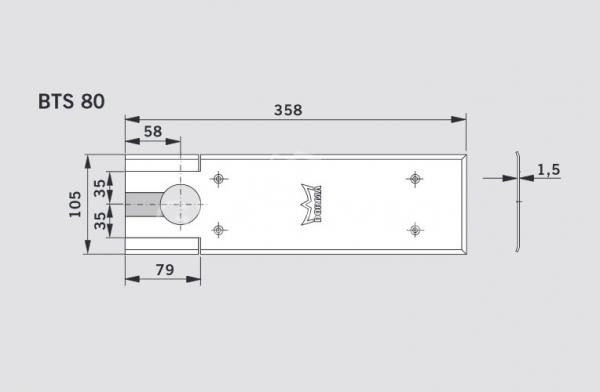 Capac acoperire amortizor pardoseala BTS80