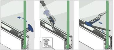 Cheie Q-disc® montaj cale/garnituri profil U balustrada Easy Glass® Smart