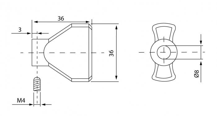 Cilindru baie broasca usa sticla 8-10 mm