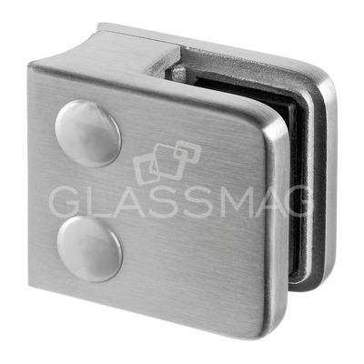 Clema sticla, 45x45mm, G=6.76 mm, teava Ø42.4 mm ,inox satinat