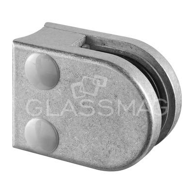 Clema sticla, 40x50mm, G=8 mm ,teava Ø33.7 mm ,zinc natur