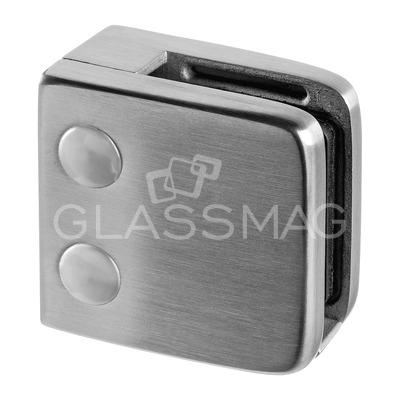 Clema sticla, 55x55mm, G=8 mm ,inox satinat