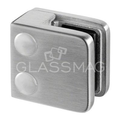 Clema sticla, 45x45mm, G=8 mm , inox satinat