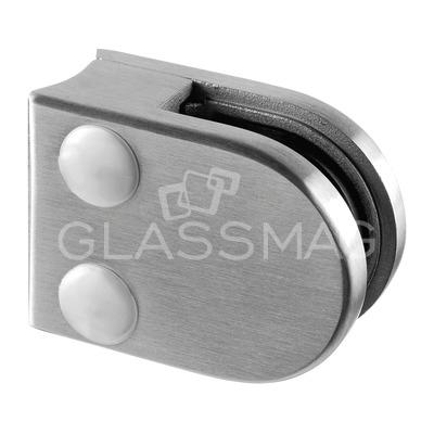 Clema sticla, 40x50mm, G=9.52 mm, teava Ø33.7 mm ,inox satinat