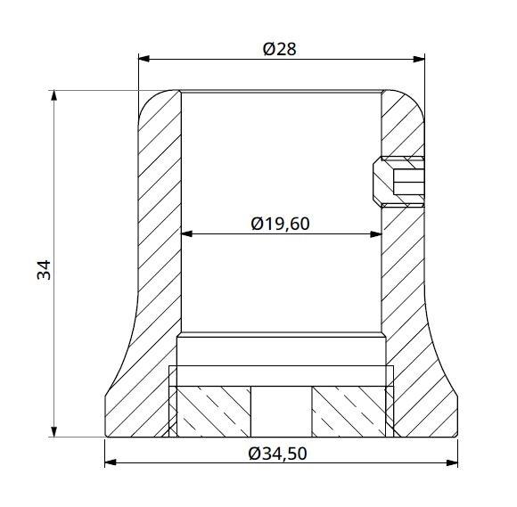 Conector bara stabilizare cabina dus teava/perete