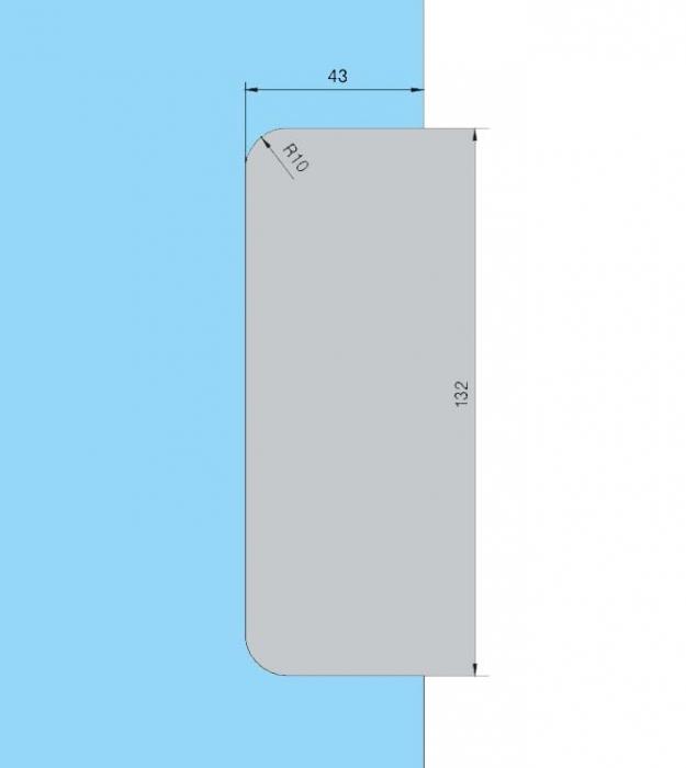 Contraplaca sticla GK 50 - pentru US 20 - Universal Light