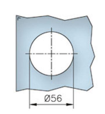 Maner scoica 65x65 mm, sticla 8-12 mm