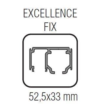 Profil glisare cu parte fixa Excellence EASY 80