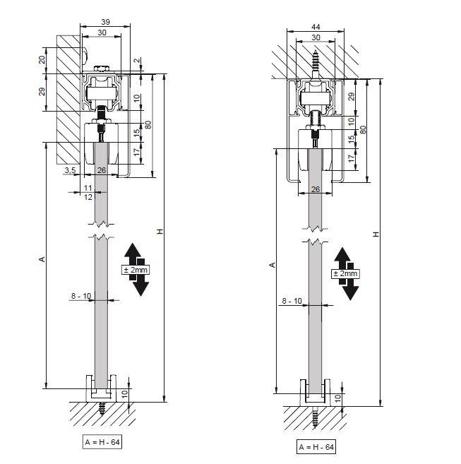 Profil glisare Standard EASY 80 2