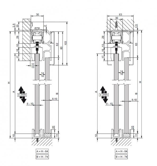 Profil glisare Standard EASY 80 3