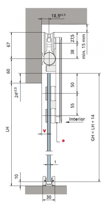 Set glisanta RSP80 1 foaie mobila