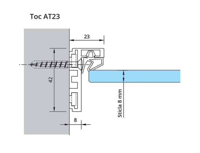Set toc AT 23 sticla 8-10 mm