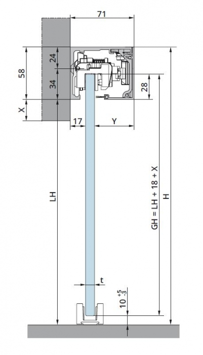 Set glisanta Muto Comfort L80 Dormotion 1 foaie mobila 1