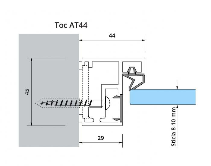 Set toc AT 44 usa sticla 8-10