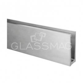 Profil U, Slim, aluminiu eloxat, finisaj inox satinat, L=5000 mm