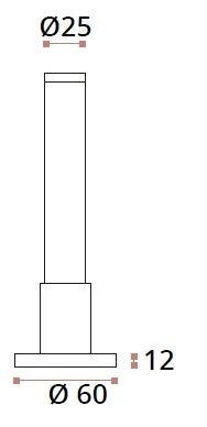 Picior reglabil 120-150 mm sticla/HPL 10-13 mm compartimentare toaleta