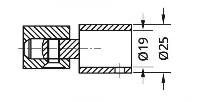 Conector reglabil bara stabilizare cabina dus teava/perete