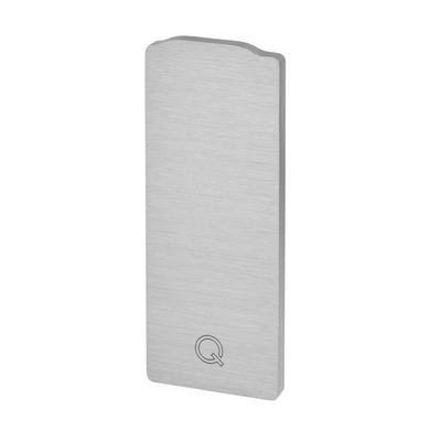Capac capat profil U balustrada Easy Glass® Eco, fixare pardoseala 0