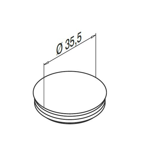 Capac mascare gauri fixare profil U balustrada Easy Glass® Smart 1