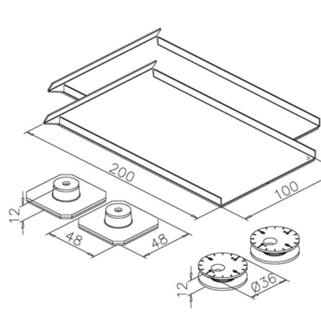 Set accesorii fixare mecanica oglinda max 1,6 m² 1
