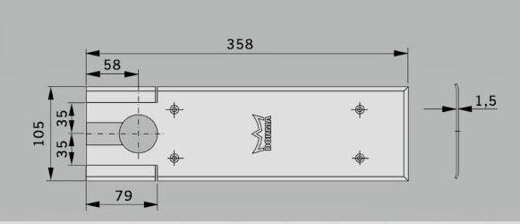 Amortizor pardoseala Dorma BTS 80 EN 4 cu placa si insert standard 2