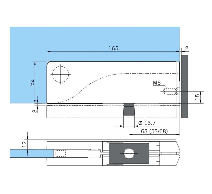 Balama dreapta supralumina PT 30 - Dorma Mundus Comfort 1