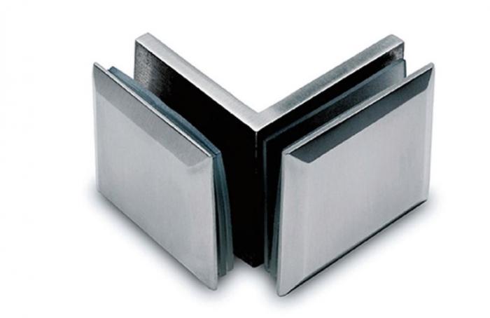 Conector cabina dus sticla/sticla 90° 0