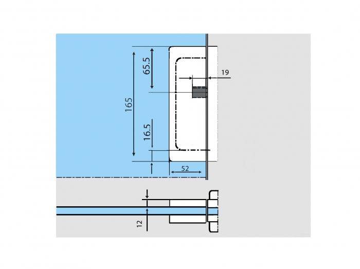 Contraplaca sticla GK 50 - pentru US 20 - Universal Light 2
