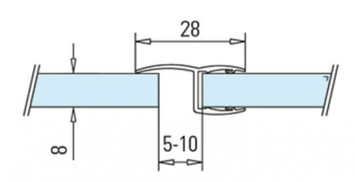 Garnitura cu banda la 180° cabina dus sticla 8-10 mm 1