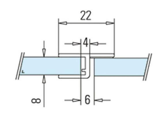 Garnitura rigida cu banda la 180° cabina dus sticla 8-10 mm 1